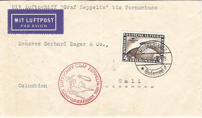 nach - Südamerikafahrt 1930, Post nach Pernambuco 57_k_c10