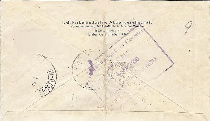 nach - Südamerikafahrt 1930, Post nach Pernambuco 57_k_c11
