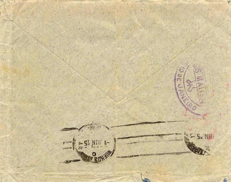 Condor-Flugpostmarken auf Belegen der Südamerikafahrt 1930 57_m_n11
