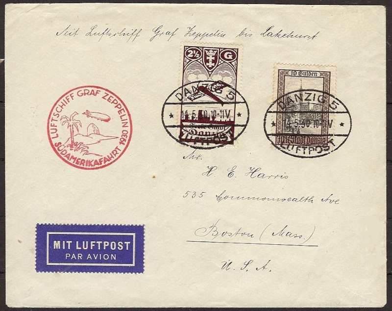 Südamerikafahrt 1930, Post nach Lakehurst 57_n_d10