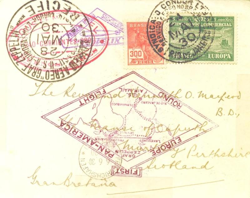 """Südamerikafahrt 1930 (Rundfahrt-) Post nach Friedrichshafen"""" - Seite 3 Dr_kno11"""