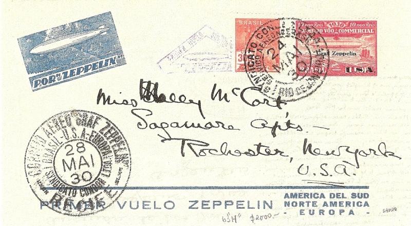 """Südamerikafahrt 1930 (Rundfahrt-) Post nach Friedrichshafen"""" - Seite 3 Gappe-10"""