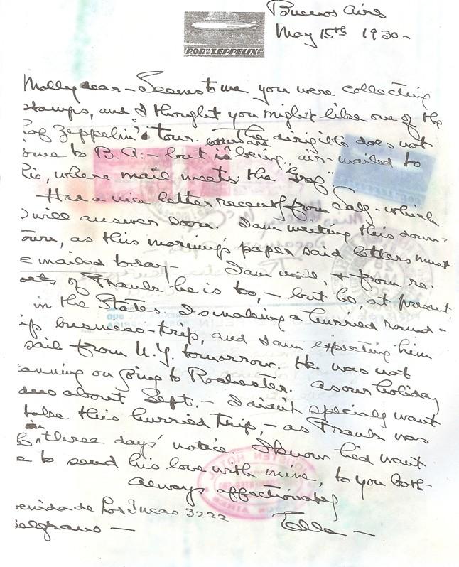 """Südamerikafahrt 1930 (Rundfahrt-) Post nach Friedrichshafen"""" - Seite 3 Gappe-13"""