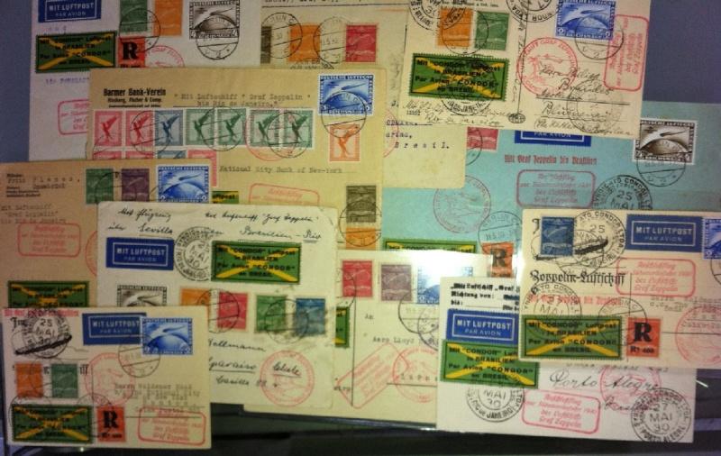 Condor-Flugpostmarken auf Belegen der Südamerikafahrt 1930 Havann10