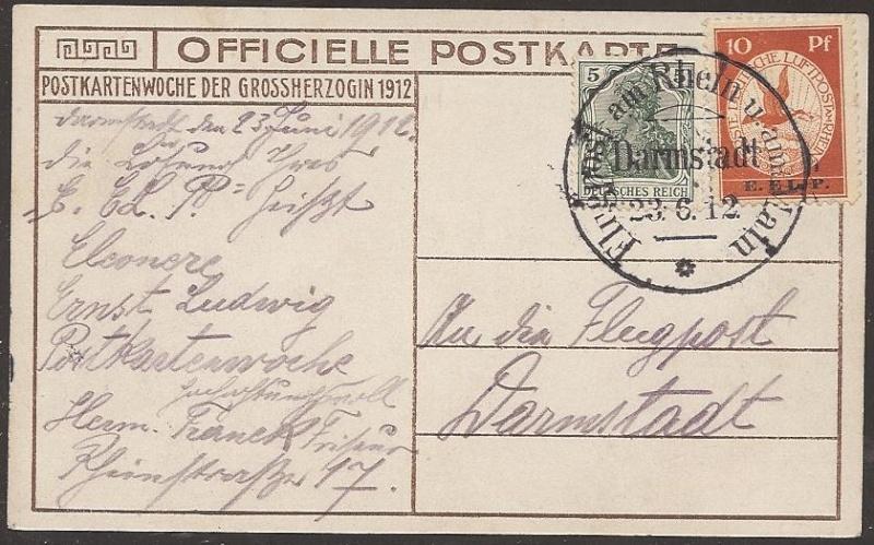 Flugpost 1912 am Rhein und Main Sieger10