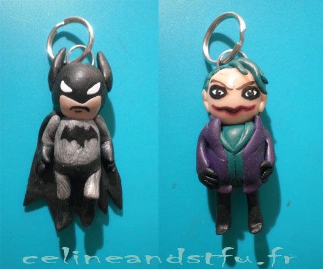 Chibi Batman et Joker en fimo Batman10