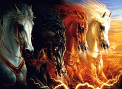 Les Cavaliers de l'Apocalypse dans la Bible Four-h11