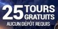 BeVegas Casino 25 Tours Gratuits bonus sans dépôt
