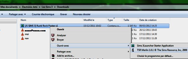 Savoir utiliser Merlin pour trier ses fichiers (Sims3Pack et Packages) Ouvrir13