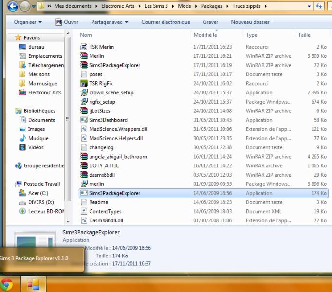 L'utilitaire Sims 3 Package Explorer ne s'ouvre plus => Soluce : Merlin Sans_t26
