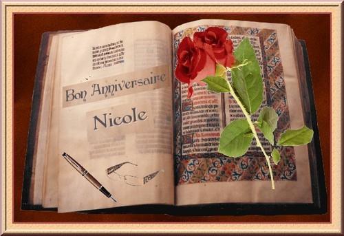 Bon Anniversaire Nicole