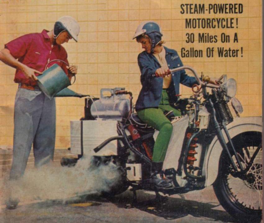 Мотоцикл с паровым двигателем 6f59c510