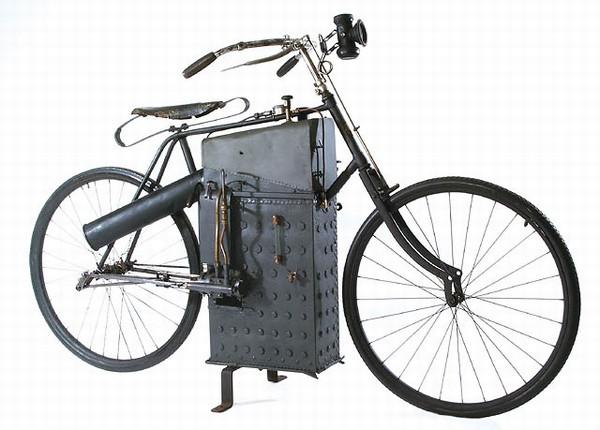Мотоцикл с паровым двигателем 83f7a110