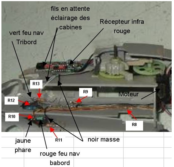 ELECTRIFICATION d'une maquette d'HELICO par YVESMAQUETTES Helico32
