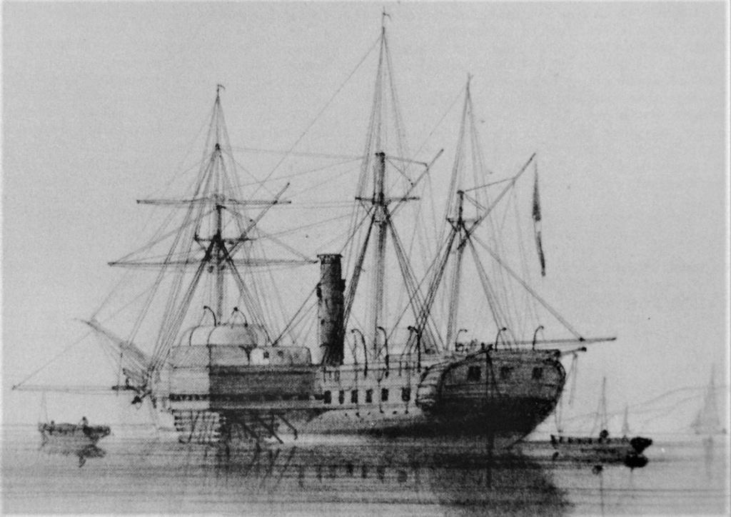 """Frégate à roues """"La Caraïbe"""" perdue en janvier 1847. A_frzo10"""
