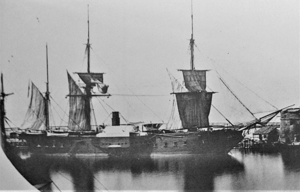 """Frégate à roues """"La Caraïbe"""" perdue en janvier 1847. Gomer_10"""