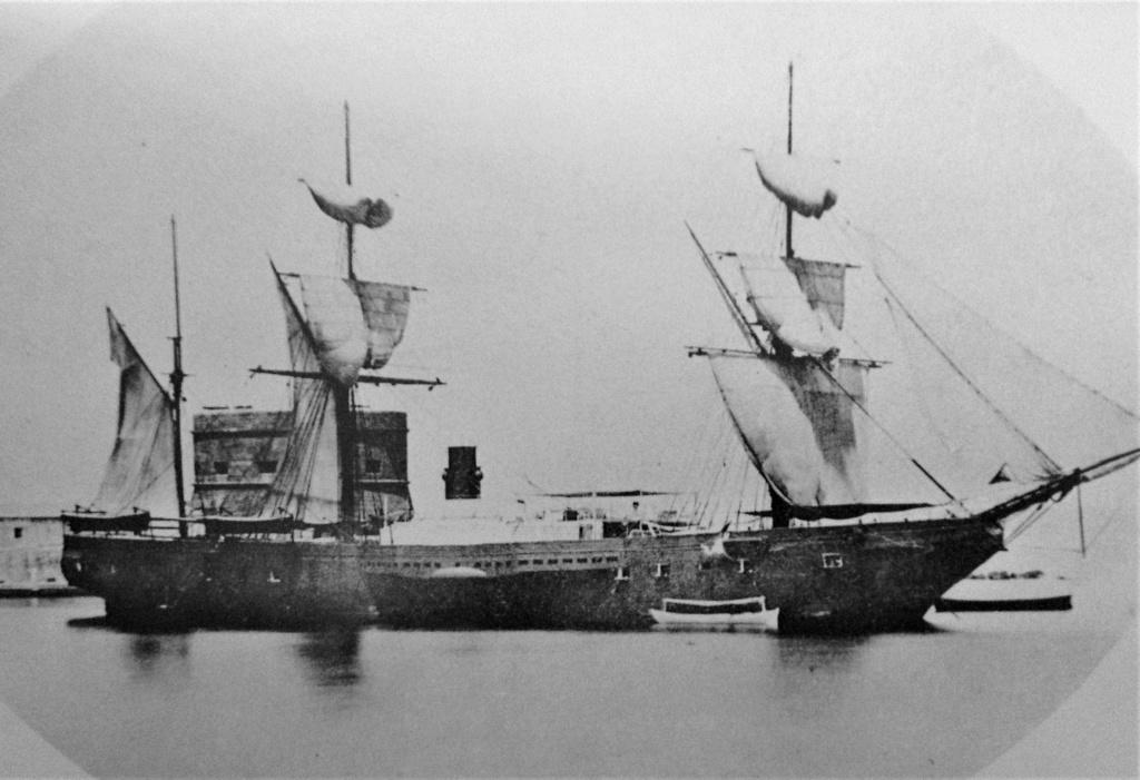 """Frégate à roues """"La Caraïbe"""" perdue en janvier 1847. Gomer_12"""
