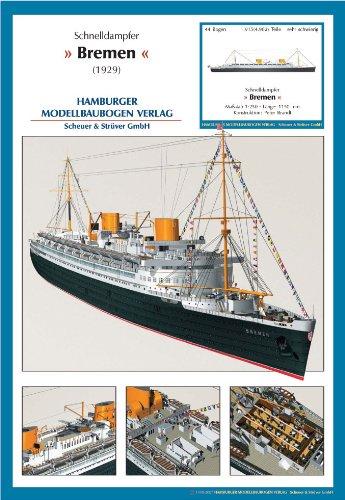 Schnelldampfer Bremen von 1929 1:250 Schnel10