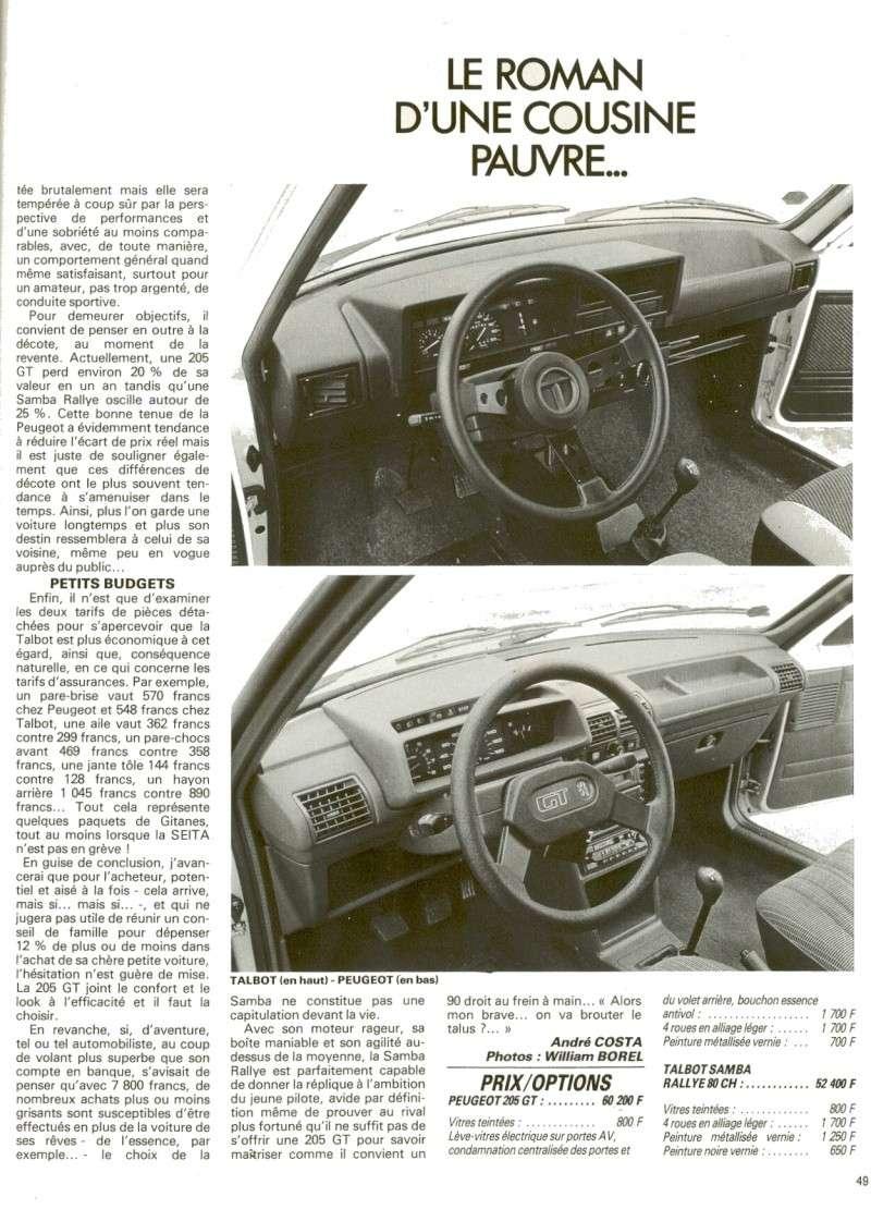 Talbot Samba Rallye 80ch Auto-j12
