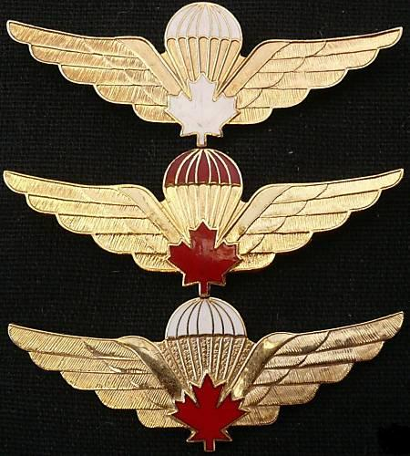 Canadian Para wings and patches help required. 3_type10