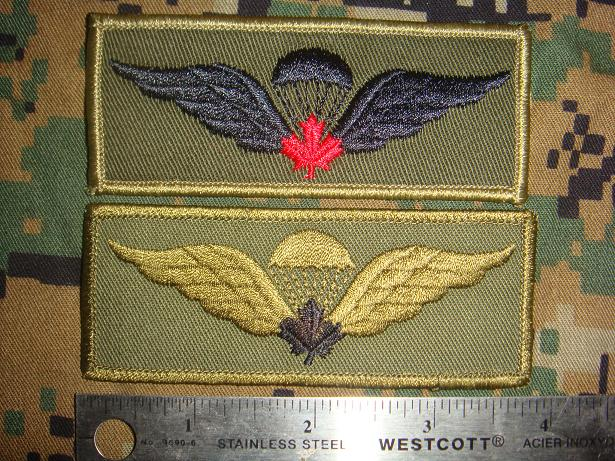 Canadian Para wings and patches help required. Cdn_ju11