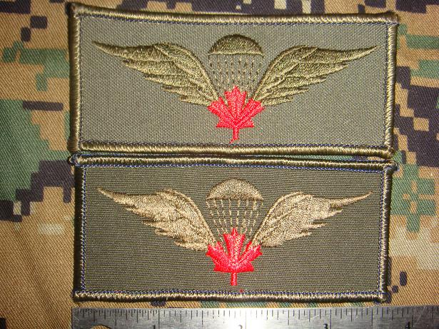 Canadian Para wings and patches help required. Import10