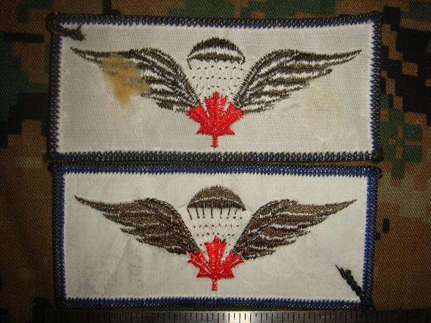 Canadian Para wings and patches help required. Import11
