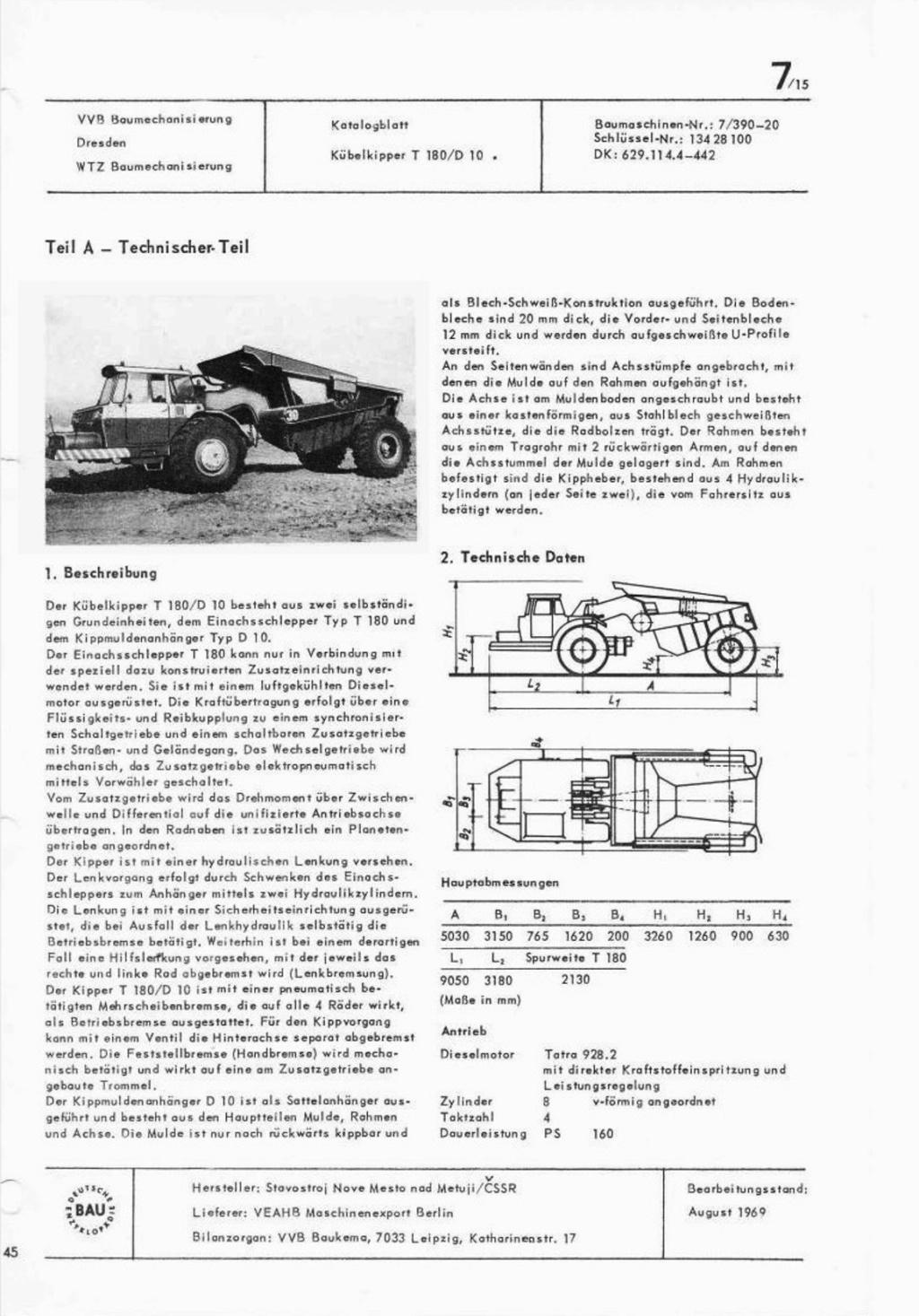 Stavostroj Einachsschlepper T180/D10 Kübelkipper und T180/S10 Scraper 2017