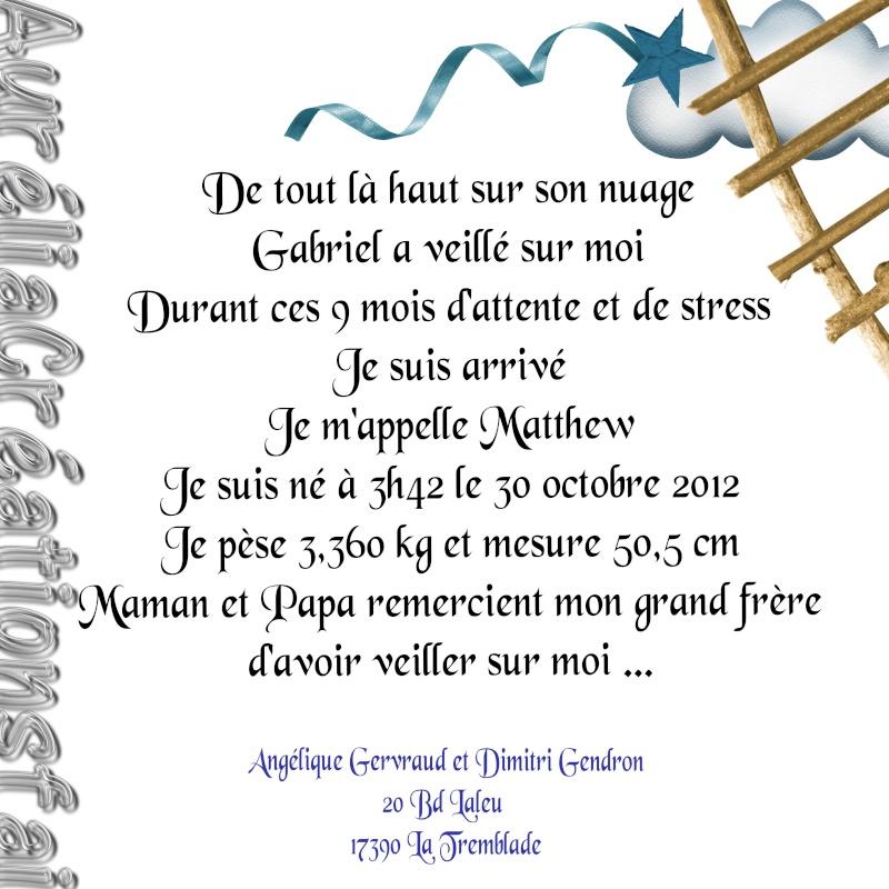 bébé espoir septembre - octobre 2012 - Page 2 Matthe12