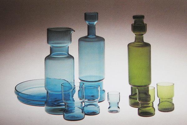 Blue Glass Lidded Jars 726210