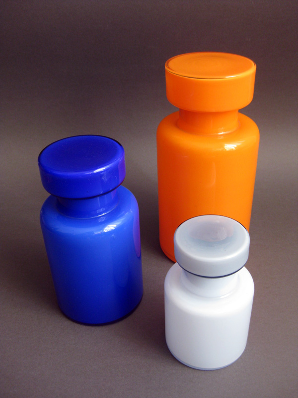 Blue Glass Lidded Jars Img_7210