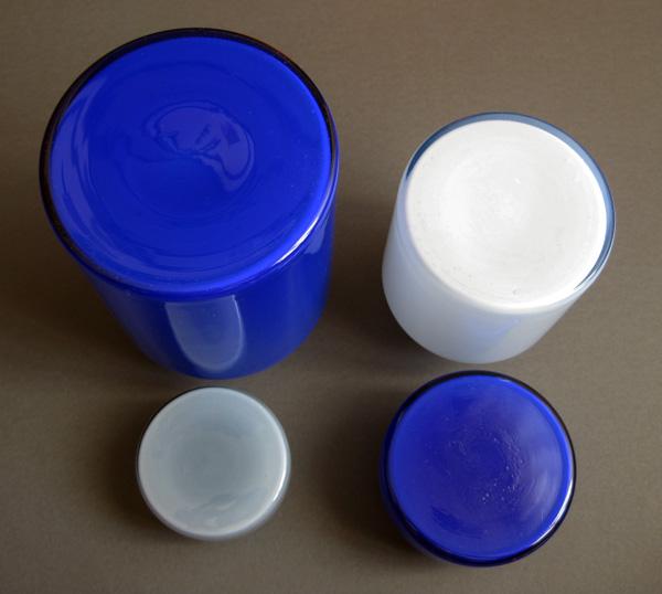 Blue Glass Lidded Jars Img_7211