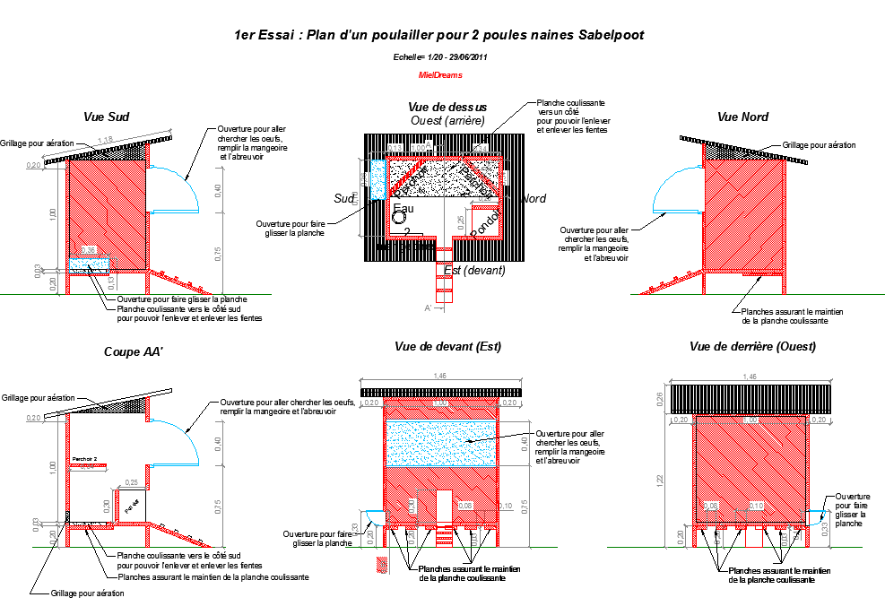 que pensez vous de mon projet de poulailler. Black Bedroom Furniture Sets. Home Design Ideas