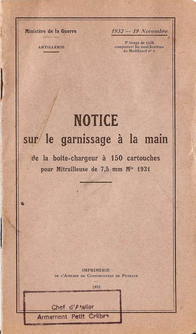 La MAC 31 E Reibel Notice10