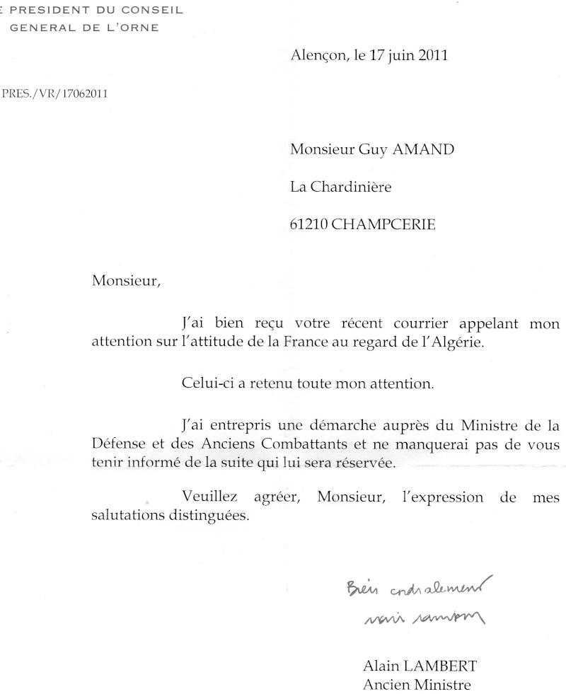 l'ambassadeur de France à Alger aurait proposé au Président de la République d'inviter l'armée algérienne à défiler...  Img34111