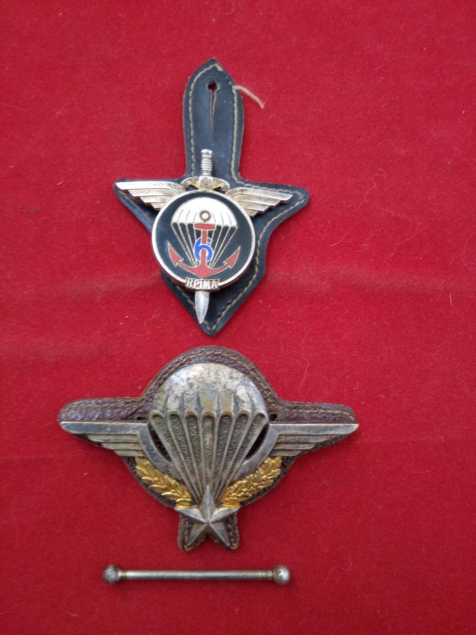 lot insigne et brevet parachutiste numéroté Brevpa10