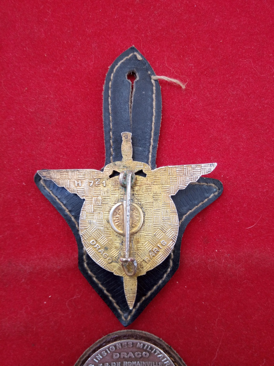 lot insigne et brevet parachutiste numéroté Brevpa12