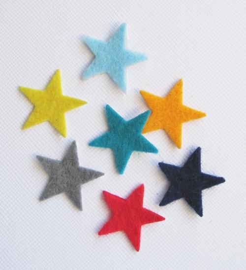 FUZZY FELT EMBELLISHMENTS Stars10