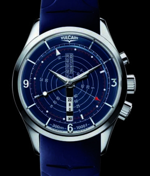 Vulcain Nautical fond bleu Nautic11