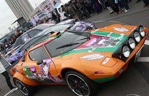 Autos tuneados con graffitis Manga - Anime. Autos-32