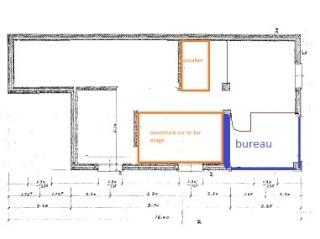 Renovation - organisation partie séjour/cuisine/salle à manger de 55m2 A35