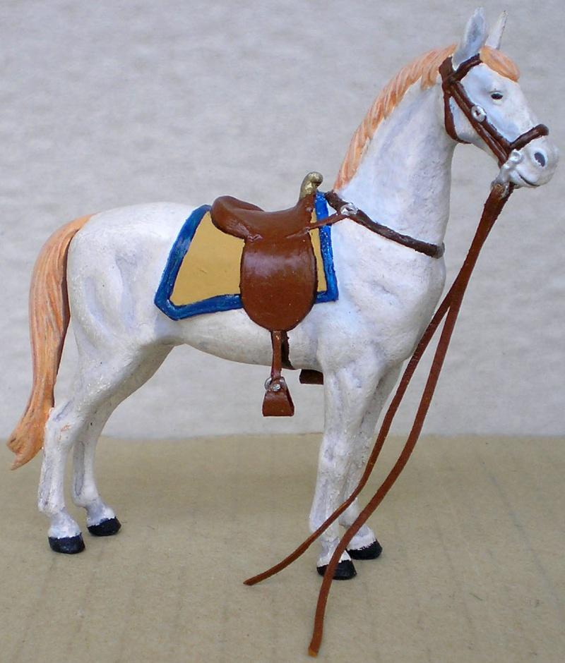 Figuren- & Zubehör-Umbau, Elastolin-Pferd, 70 mm 047f2a10