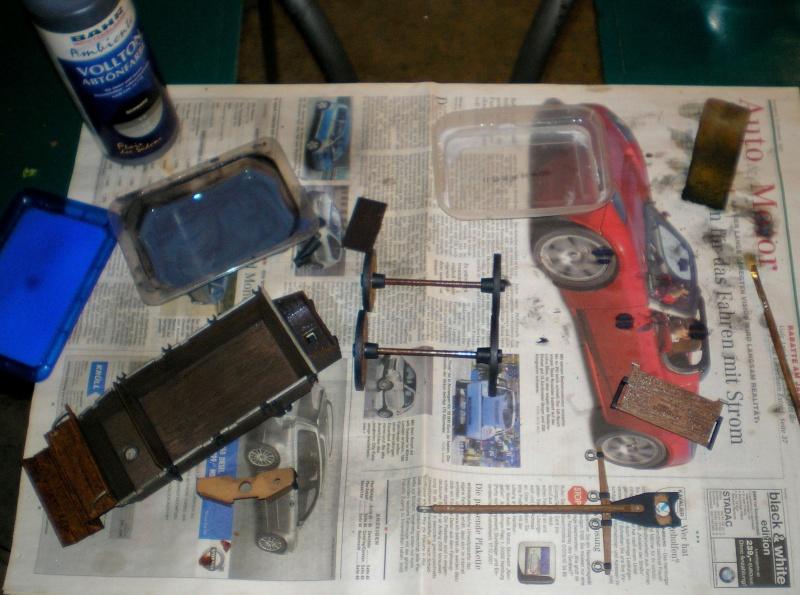 Umbau eines Playmobil-Planwagens - 2. Variante mit Kunststoffplane und Mulis 059f1_11
