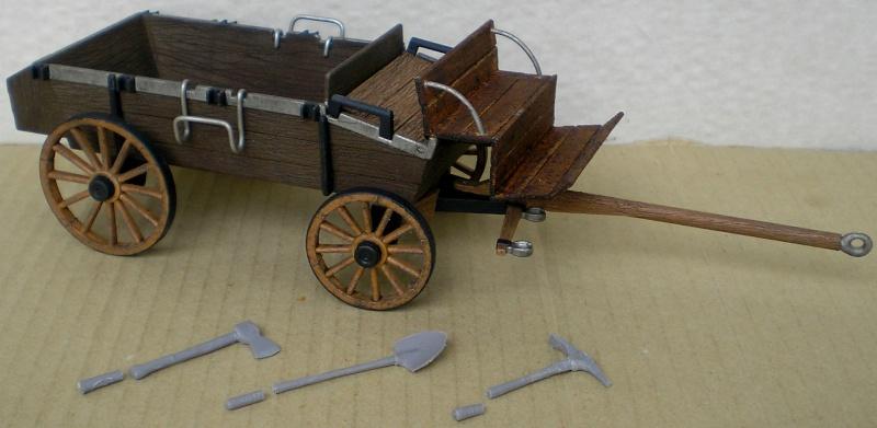 Umbau eines Playmobil-Planwagens - 2. Variante mit Kunststoffplane und Mulis 059h2_11