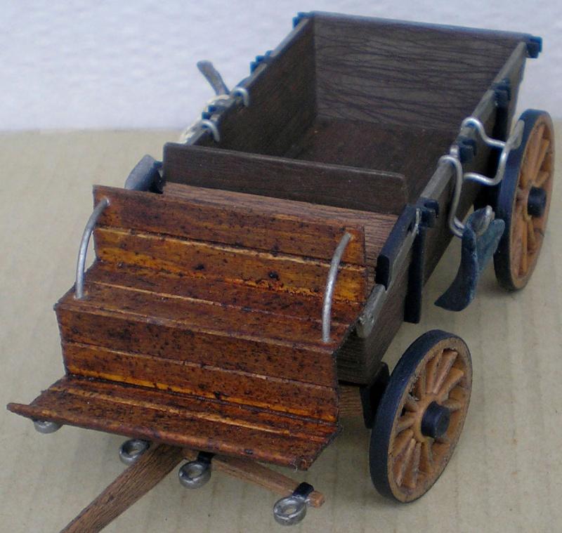Umbau eines Playmobil-Planwagens - 2. Variante mit Kunststoffplane und Mulis 059i7_11