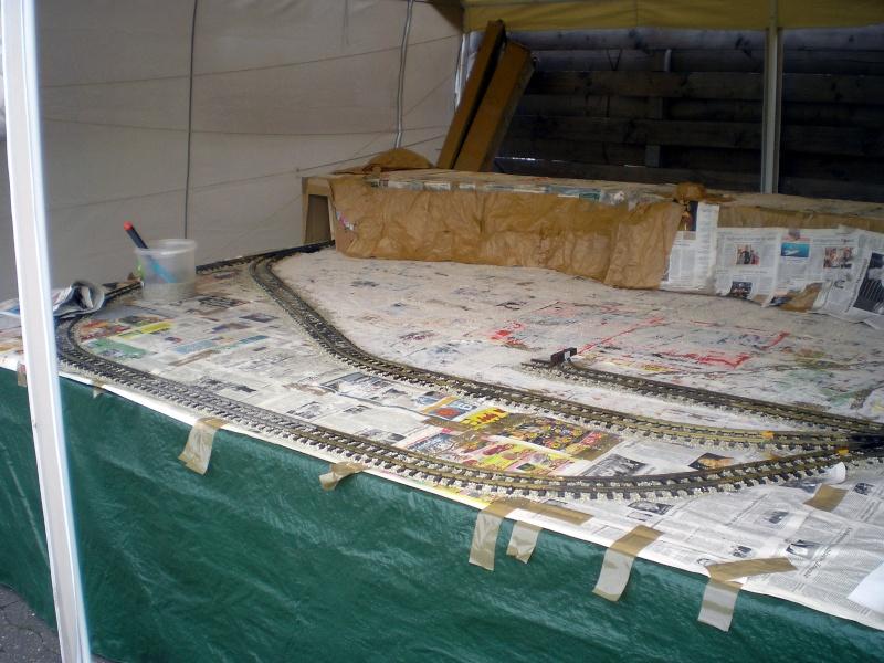 LGB-Aufbau beim Westerntreffen in Stade 2009 20090630