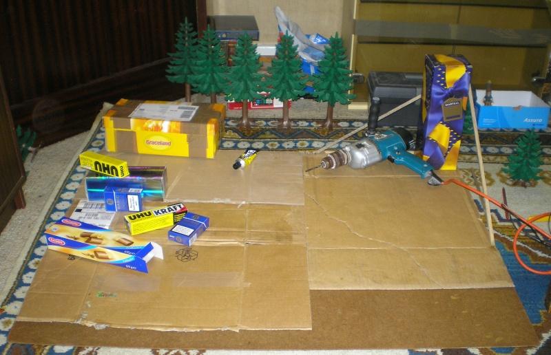 Recycling für den Modellbau - kostenloses Bastelmaterial Tannen11
