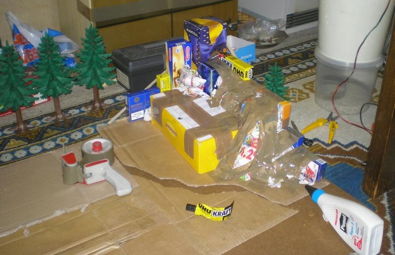 Recycling für den Modellbau - kostenloses Bastelmaterial Tannen12