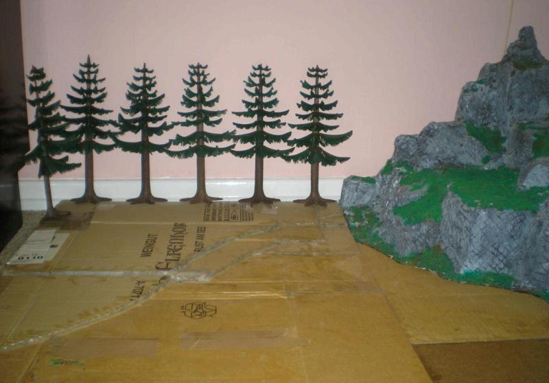 Gestaltung eines Dioramas mit den Tannen von Playmobil Tannen44