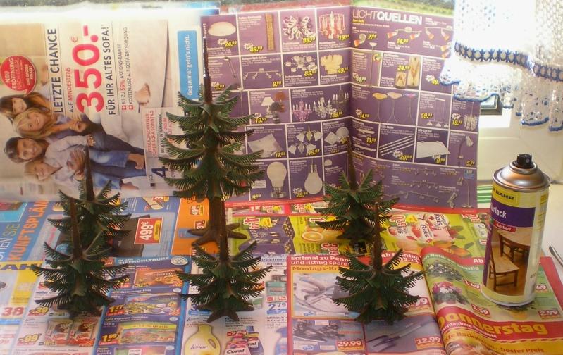 Gestaltung eines Dioramas mit den Tannen von Playmobil Tannen61